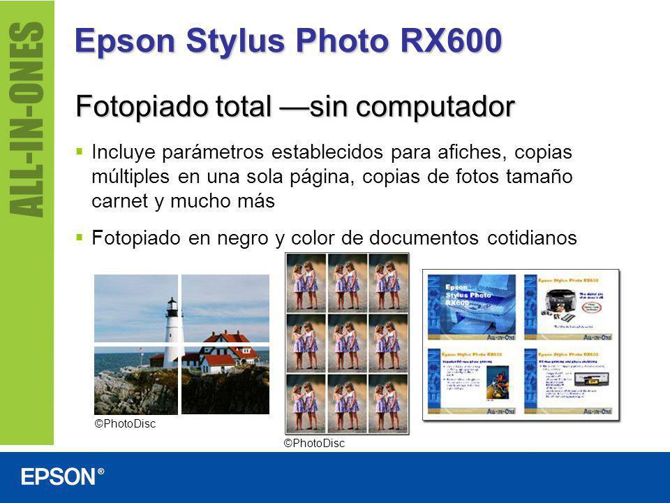 Epson Stylus Photo RX600 Fotopiado total —sin computador