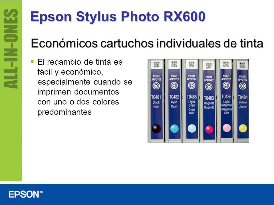 Epson Stylus Photo RX600 Económicos cartuchos individuales de tinta