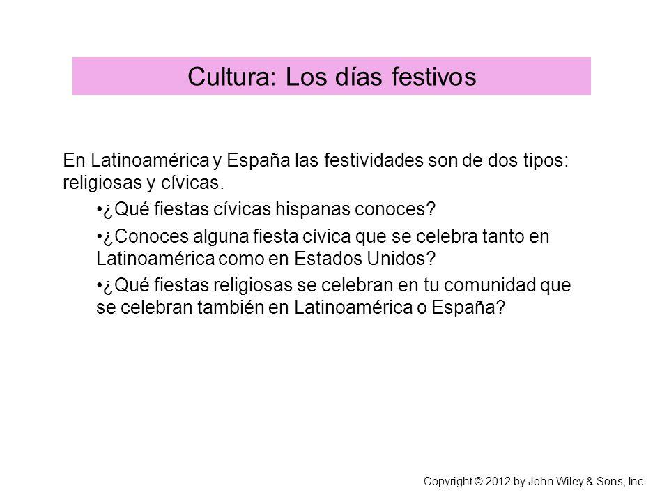 Cultura: Los días festivos