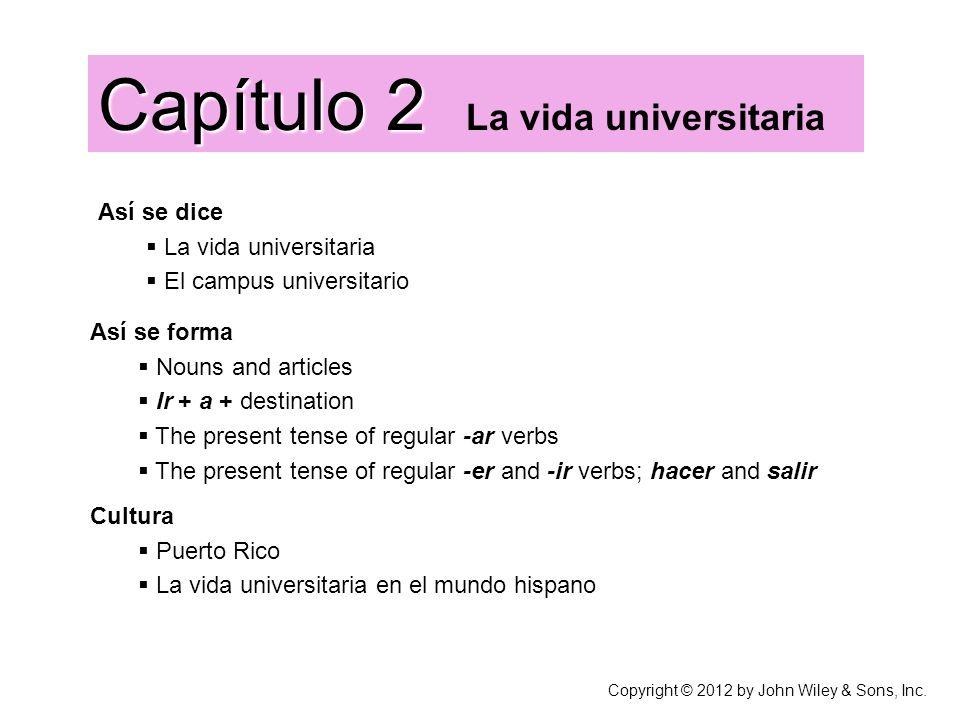 Capítulo 2 La vida universitaria