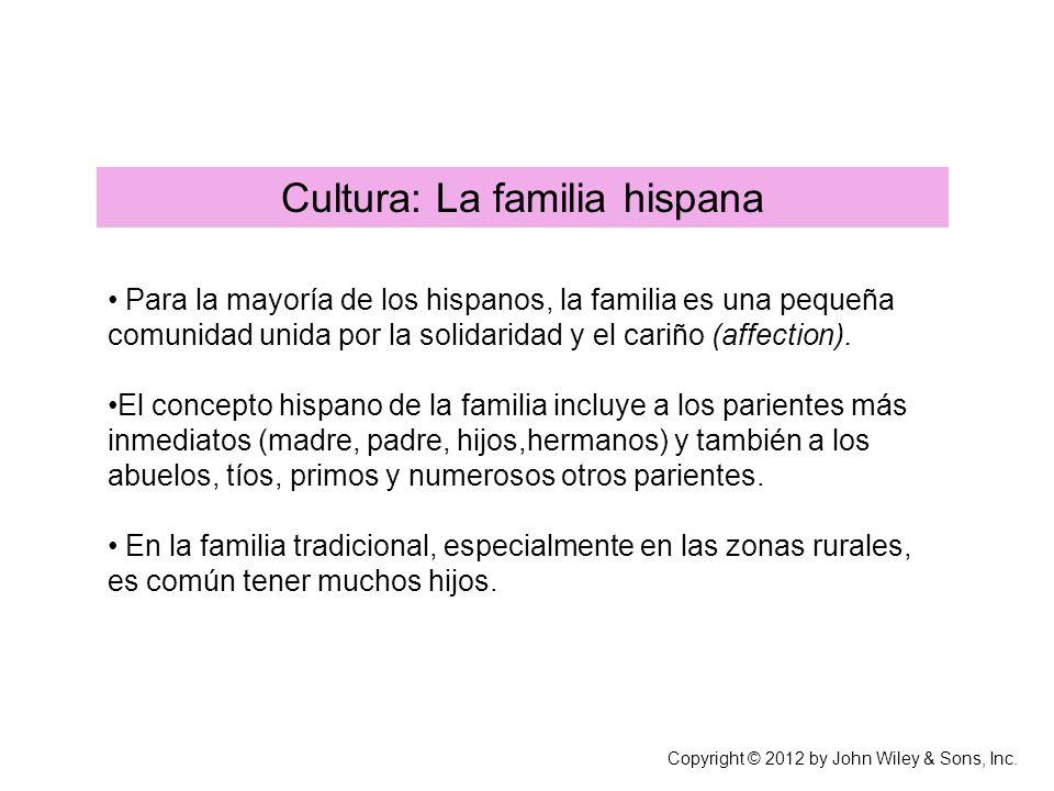 Cultura: La familia hispana