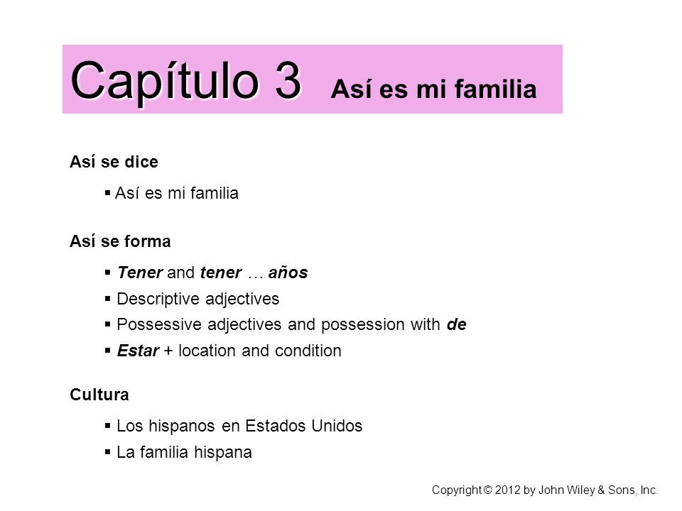 Capítulo 3 Así es mi familia