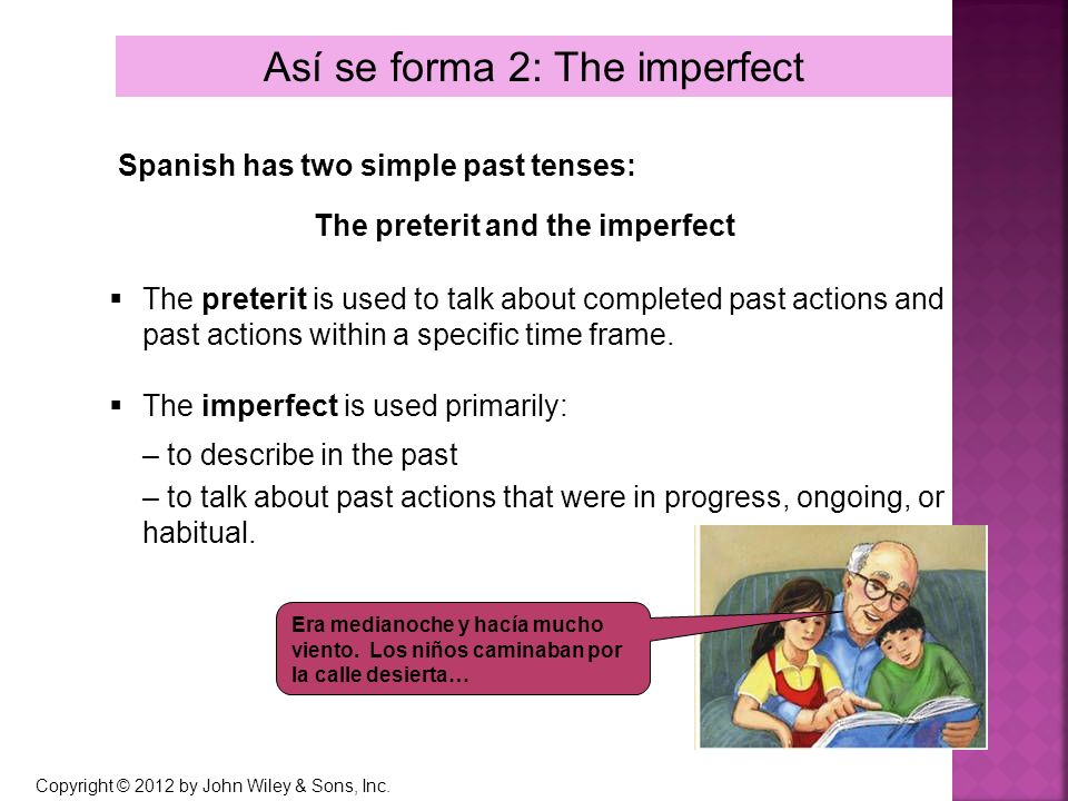 Así se forma 2: The imperfect