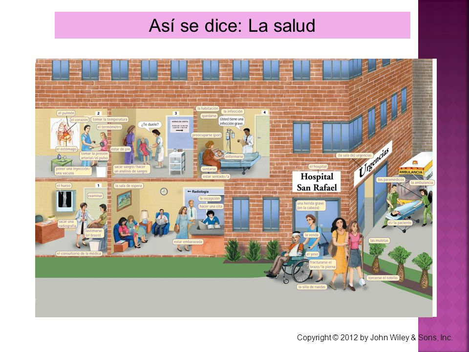 Así se dice: La salud Copyright © 2012 by John Wiley & Sons, Inc.