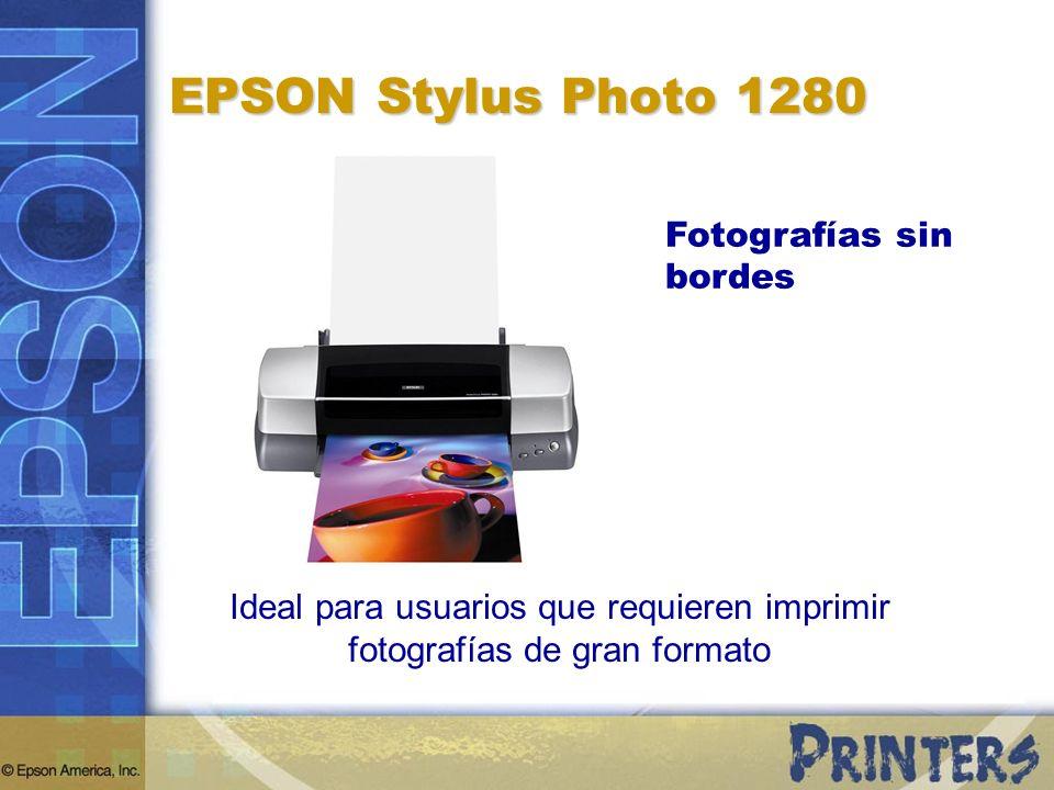 Ideal para usuarios que requieren imprimir fotografías de gran formato