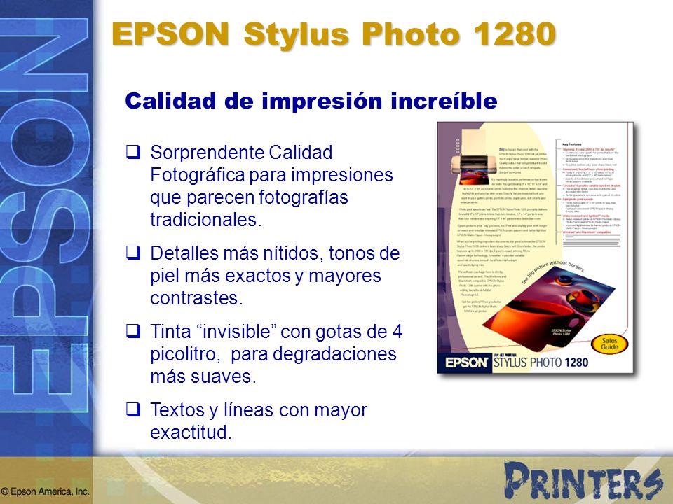 EPSON Stylus Photo 1280 Calidad de impresión increíble