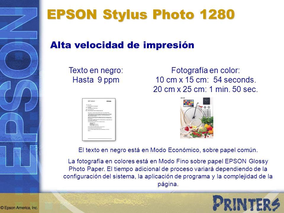 EPSON Stylus Photo 1280 Alta velocidad de impresión