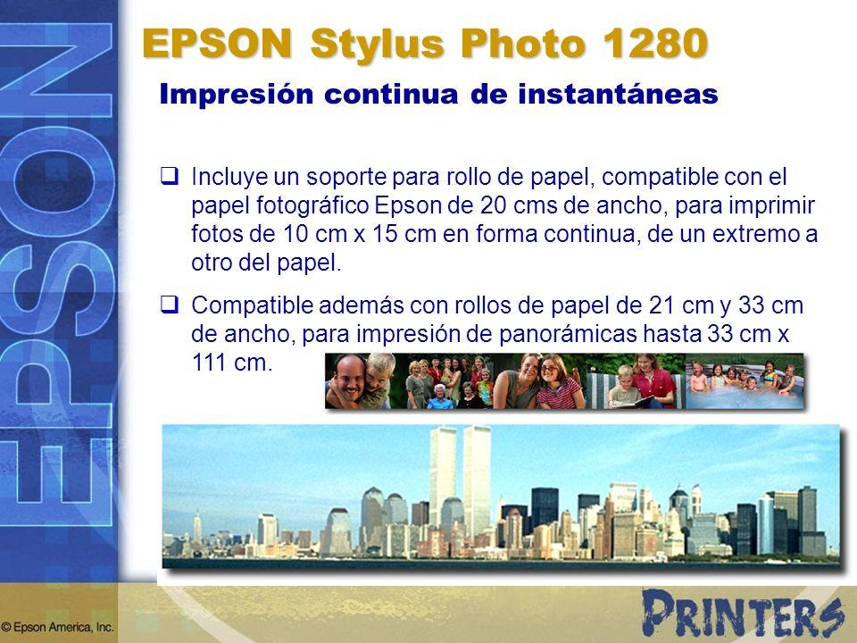 EPSON Stylus Photo 1280 Impresión continua de instantáneas