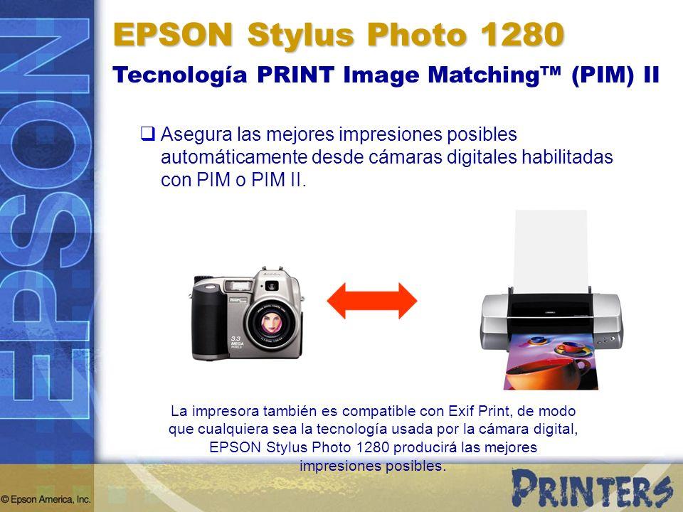 EPSON Stylus Photo 1280 Tecnología PRINT Image Matching™ (PIM) II