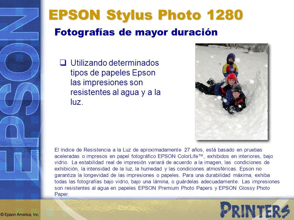 EPSON Stylus Photo 1280 Fotografías de mayor duración