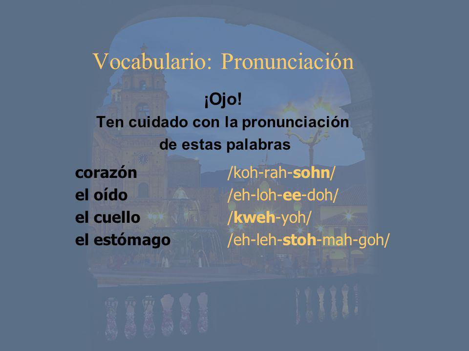 Vocabulario: Pronunciación