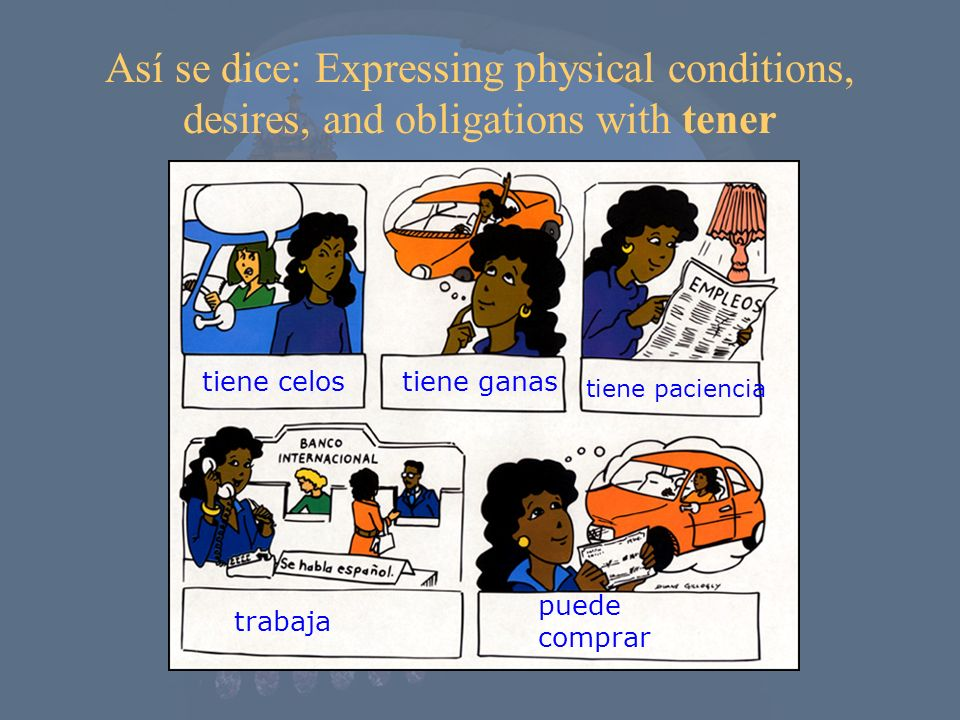 Así se dice: Expressing physical conditions, desires, and obligations with tener