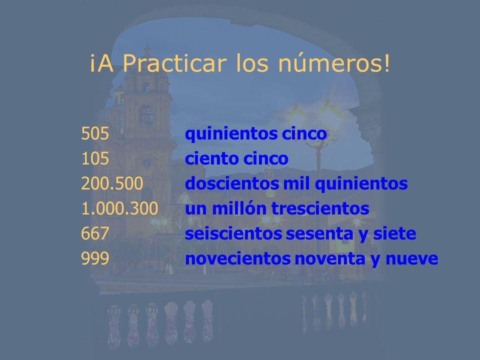 ¡A Practicar los números!