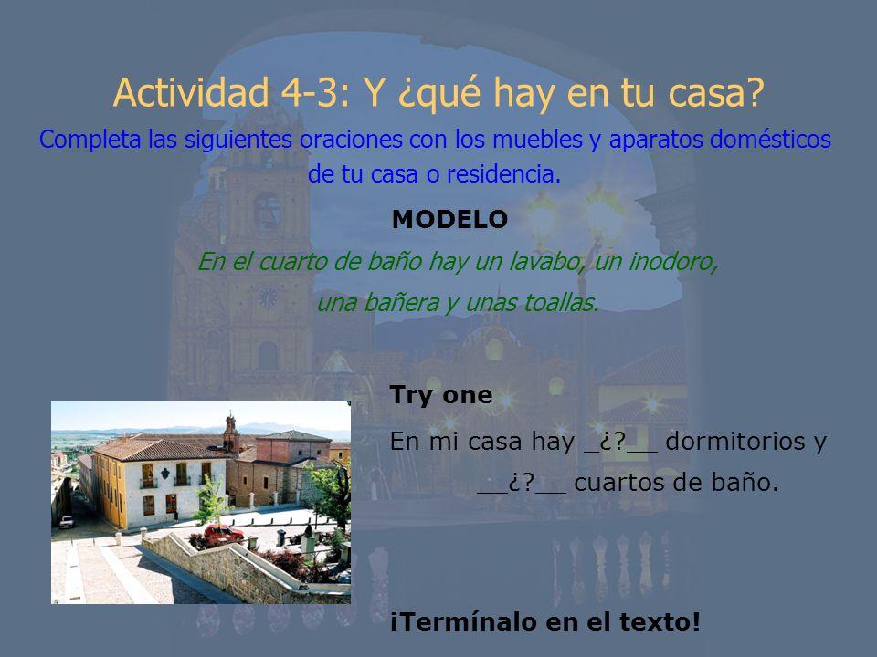 Actividad 4-3: Y ¿qué hay en tu casa
