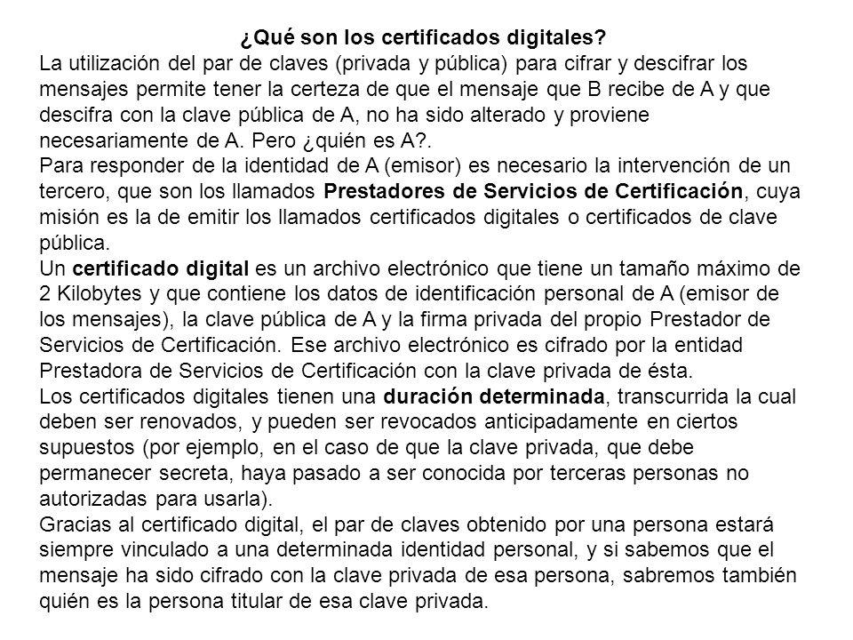 ¿Qué son los certificados digitales