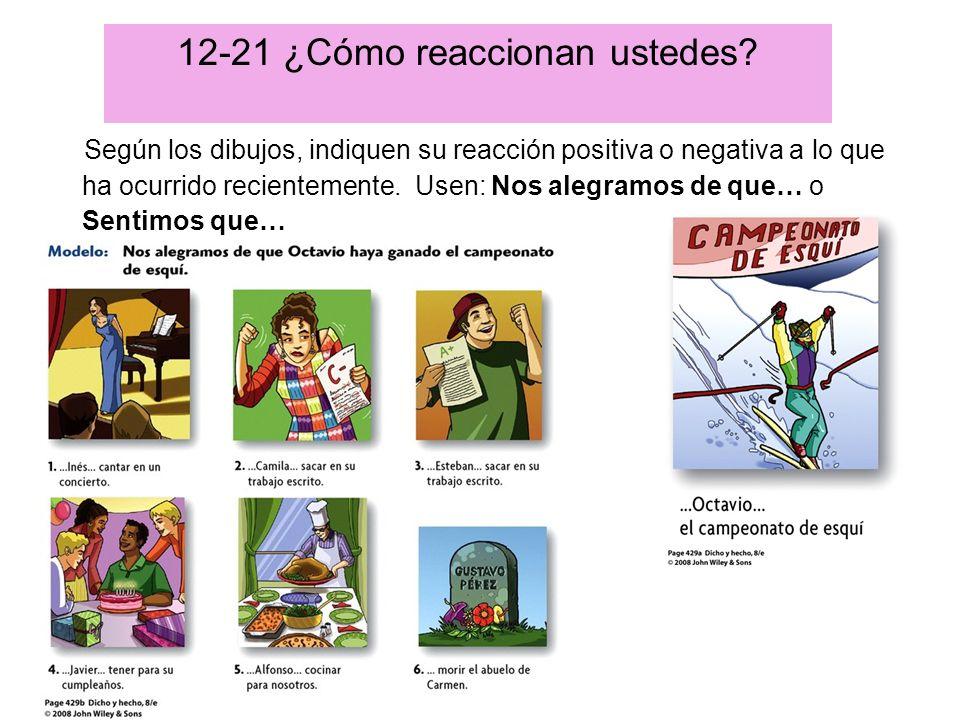 12-21 ¿Cómo reaccionan ustedes