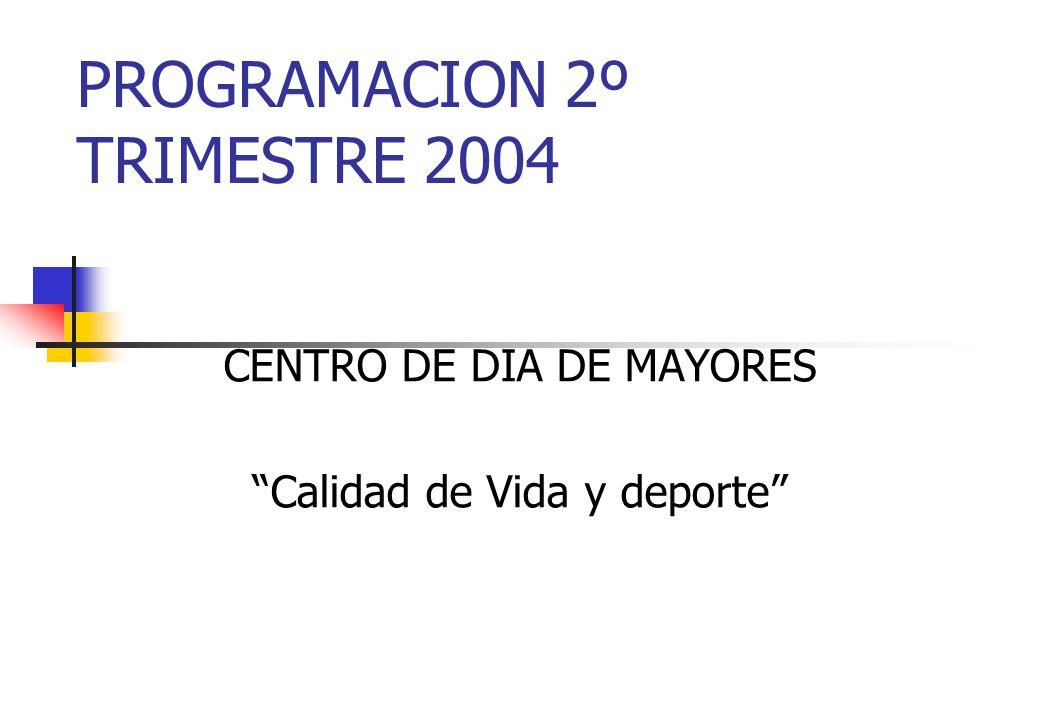 PROGRAMACION 2º TRIMESTRE 2004