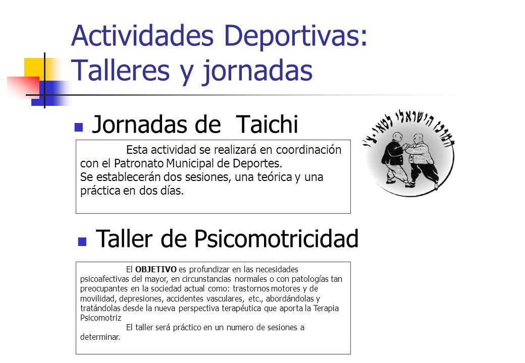 Actividades Deportivas: Talleres y jornadas