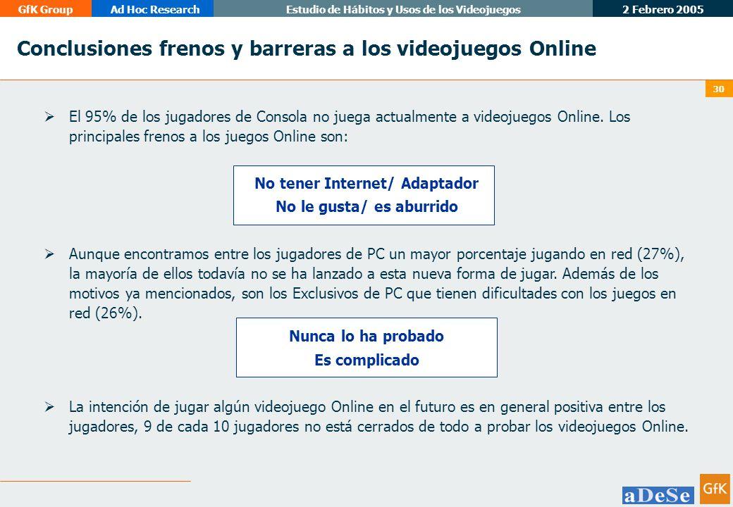 Conclusiones frenos y barreras a los videojuegos Online