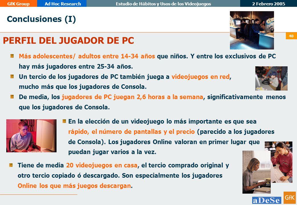PERFIL DEL JUGADOR DE PC