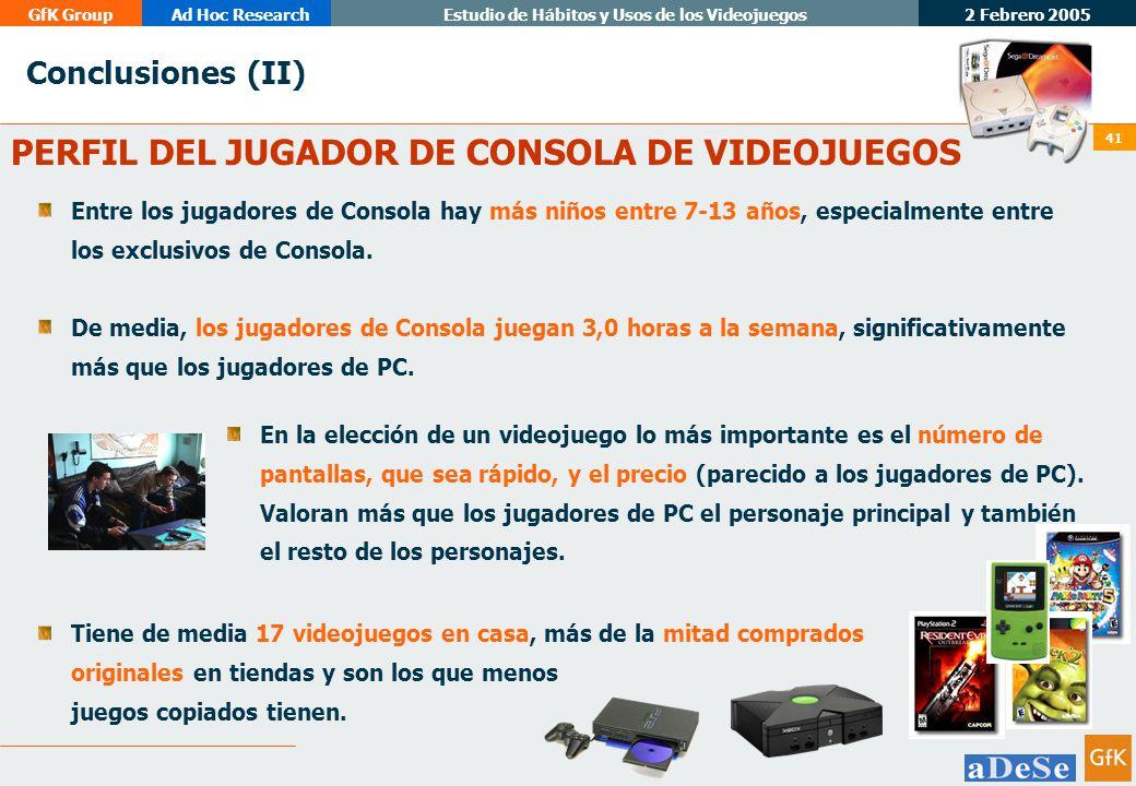 PERFIL DEL JUGADOR DE CONSOLA DE VIDEOJUEGOS
