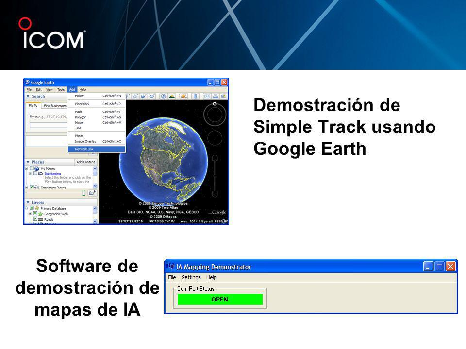 Demostración de Simple Track usando Google Earth