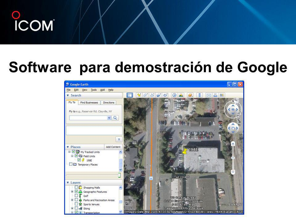 Software para demostración de Google