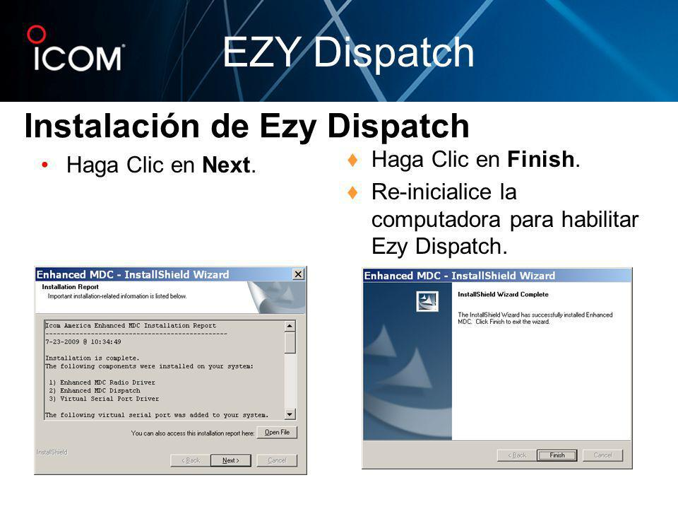 Instalación de Ezy Dispatch