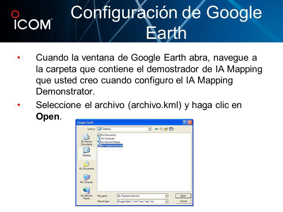 Configuración de Google Earth