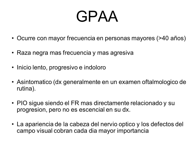 GPAA Ocurre con mayor frecuencia en personas mayores (>40 años)