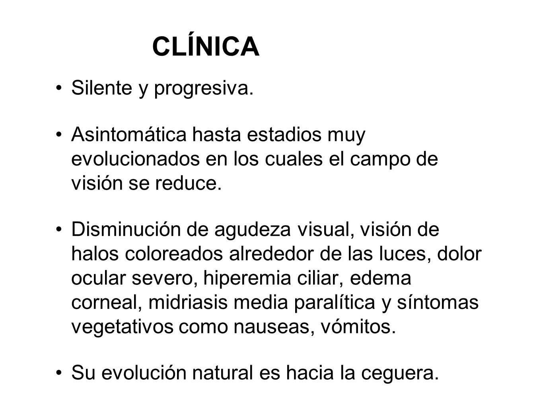 CLÍNICA Silente y progresiva.