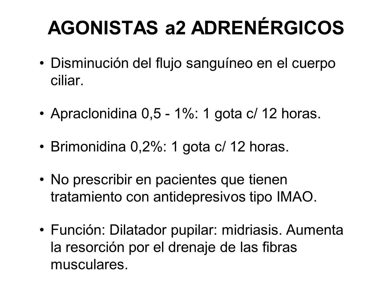 AGONISTAS a2 ADRENÉRGICOS