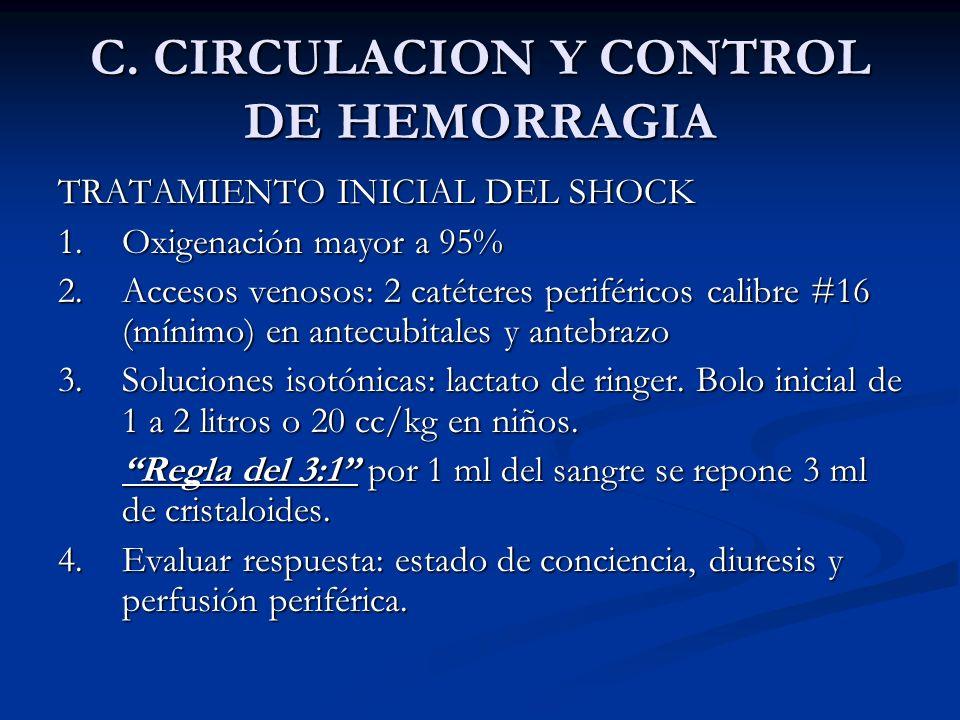 C. CIRCULACION Y CONTROL DE HEMORRAGIA