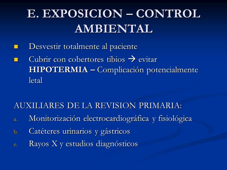 E. EXPOSICION – CONTROL AMBIENTAL