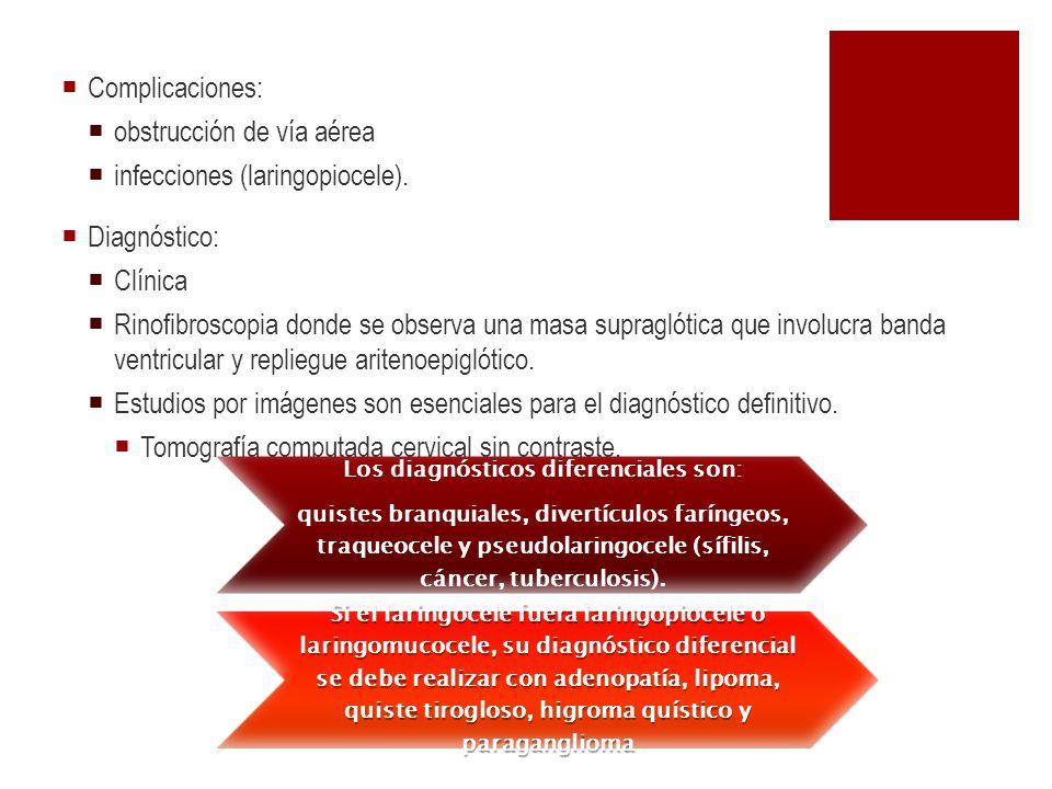 Los diagnósticos diferenciales son:
