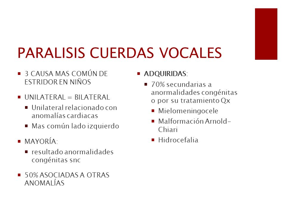PARALISIS CUERDAS VOCALES