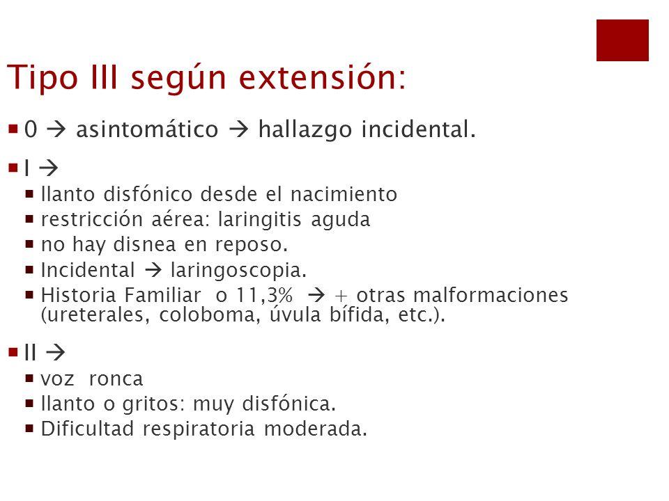 Tipo III según extensión: