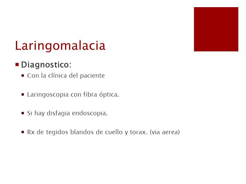 Laringomalacia Diagnostico: Con la clínica del paciente
