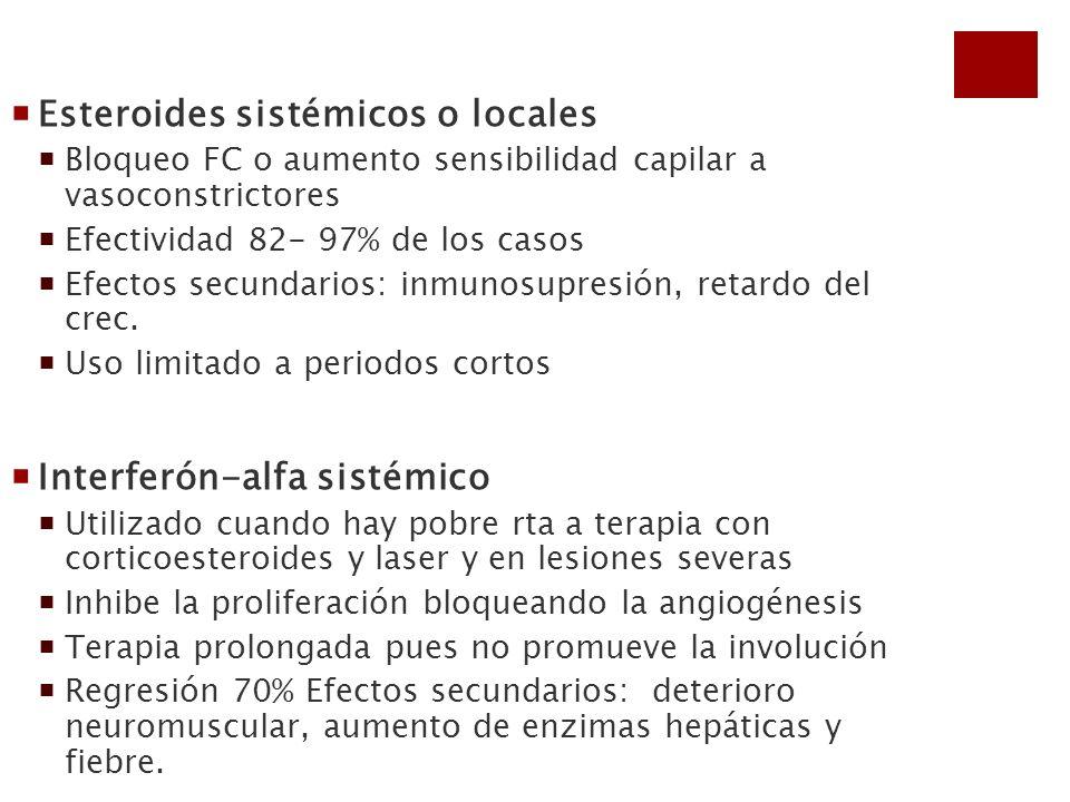 Esteroides sistémicos o locales