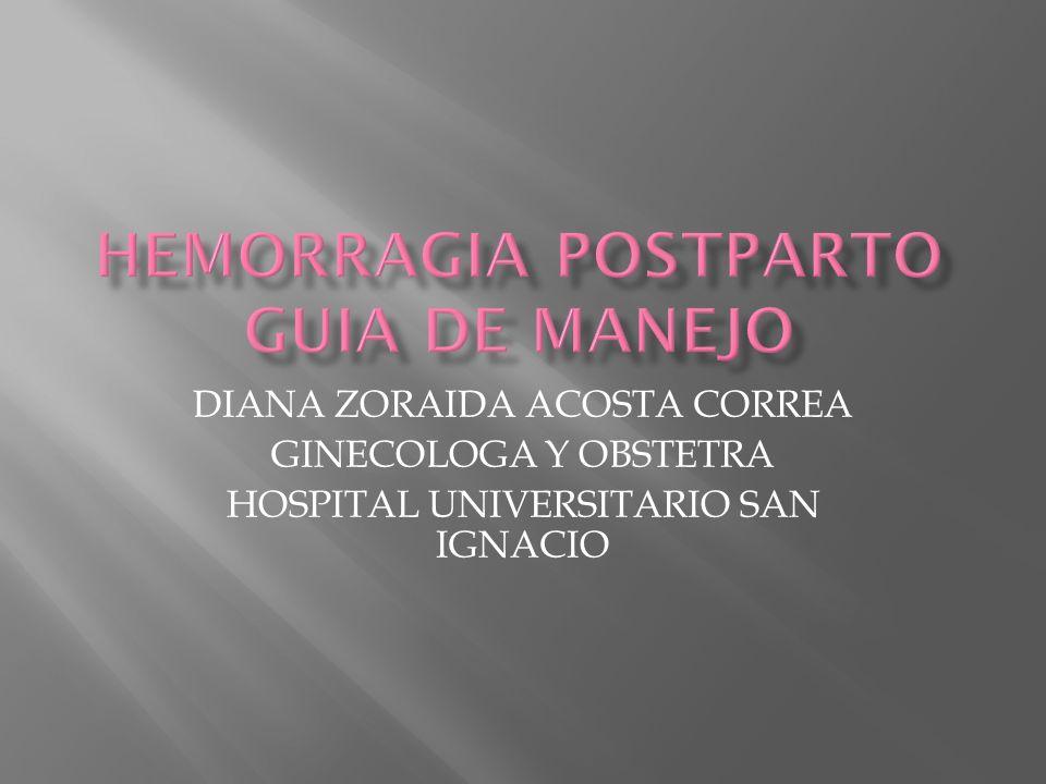 HEMORRAGIA POSTPARTO GUIA DE MANEJO