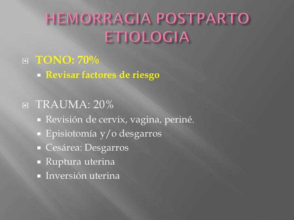 HEMORRAGIA POSTPARTO ETIOLOGIA
