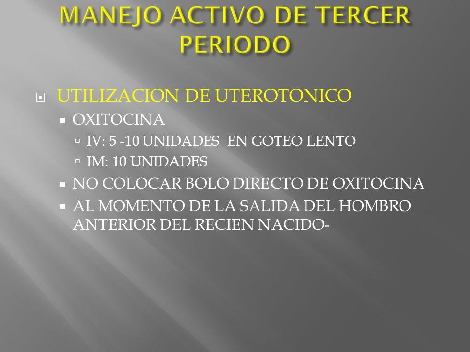 MANEJO ACTIVO DE TERCER PERIODO