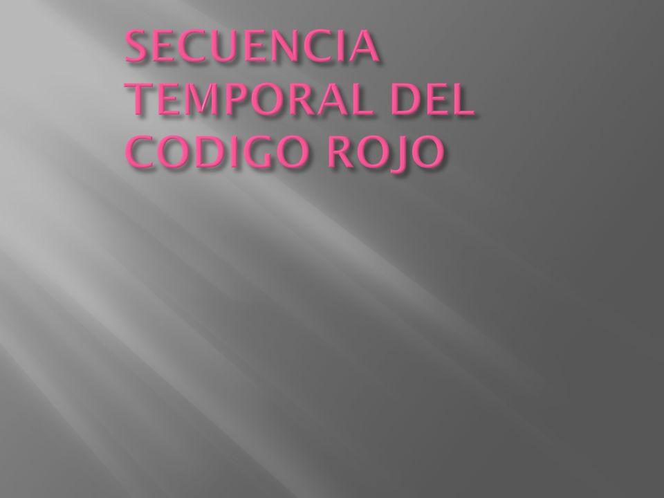 SECUENCIA TEMPORAL DEL CODIGO ROJO