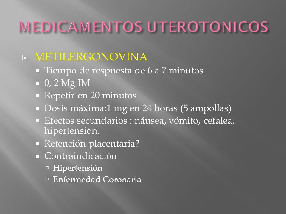 MEDICAMENTOS UTEROTONICOS