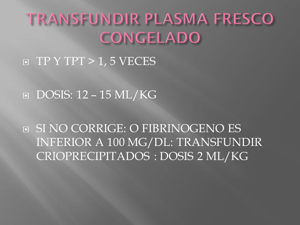 TRANSFUNDIR PLASMA FRESCO CONGELADO