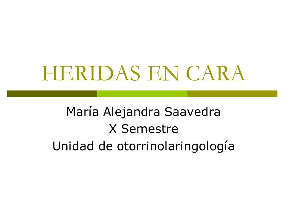 María Alejandra Saavedra X Semestre Unidad de otorrinolaringología