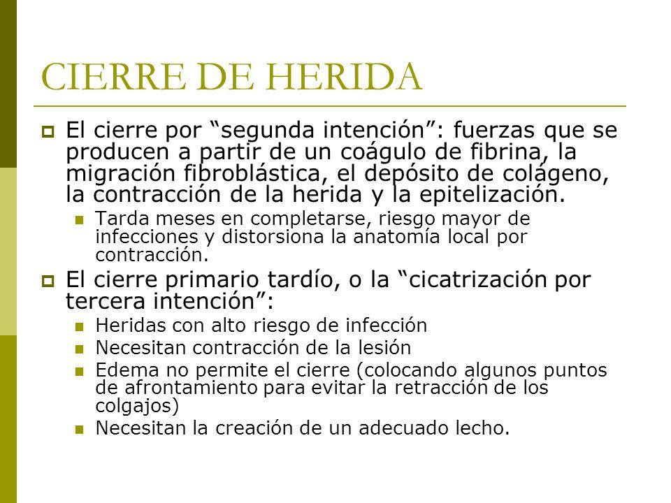 CIERRE DE HERIDA