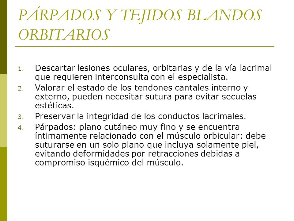PÁRPADOS Y TEJIDOS BLANDOS ORBITARIOS