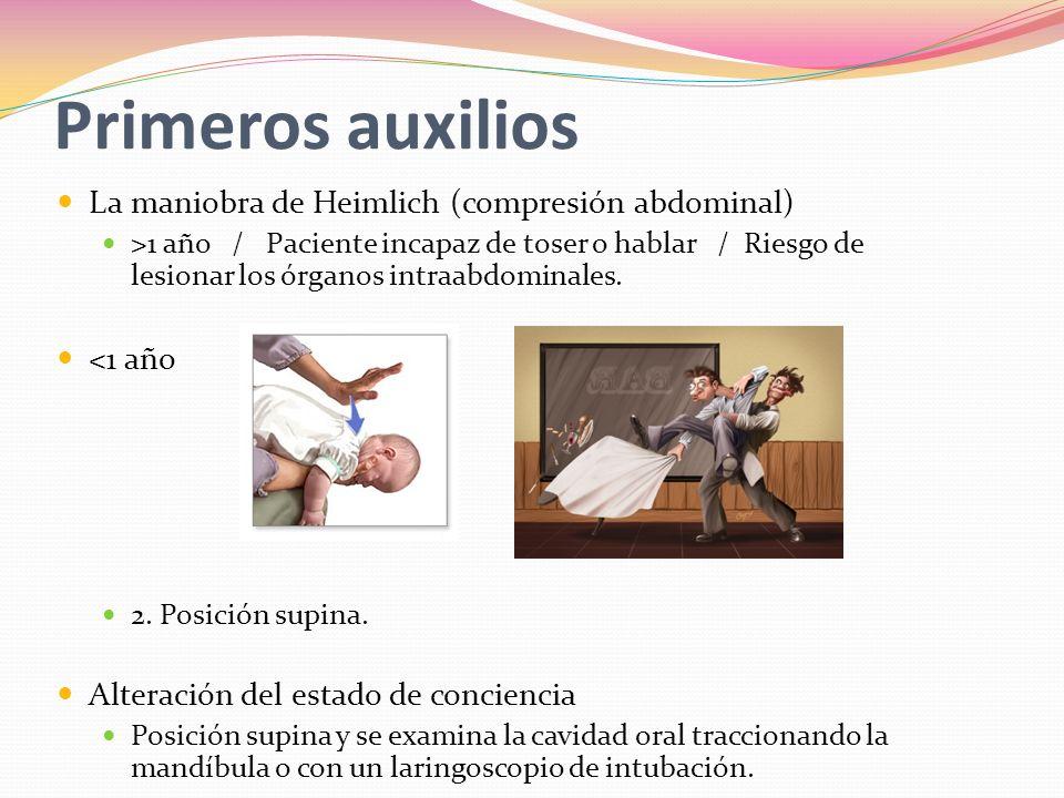 Primeros auxilios La maniobra de Heimlich (compresión abdominal)