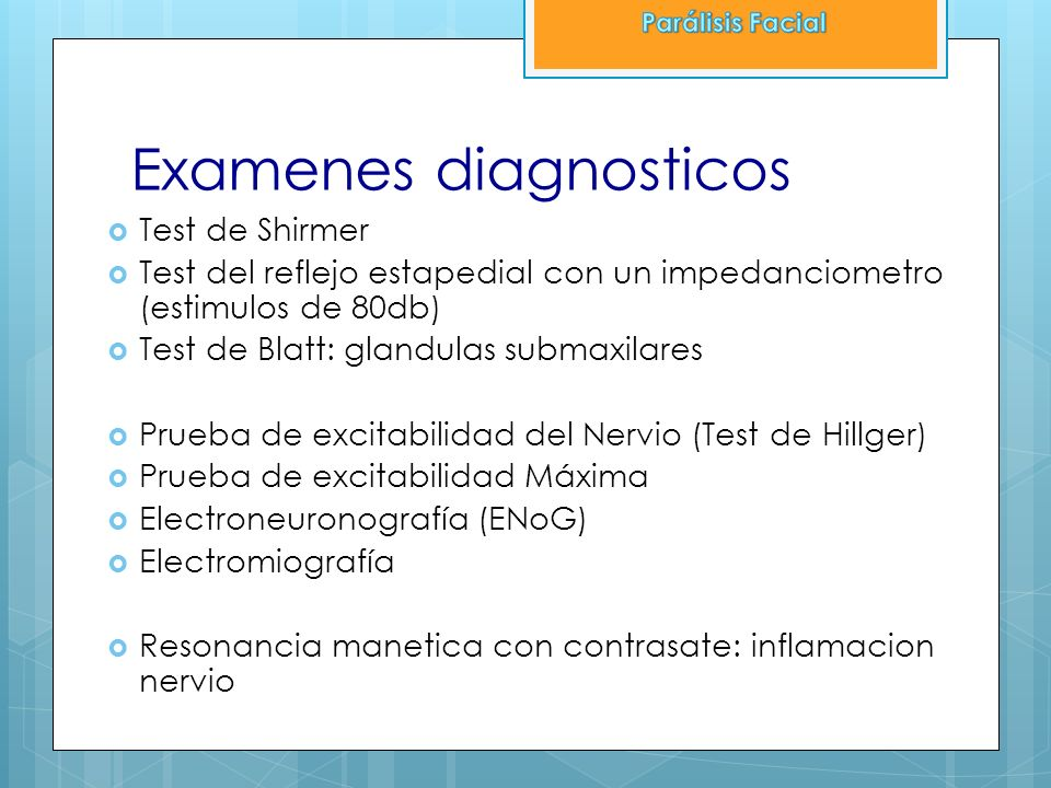 Examenes diagnosticos